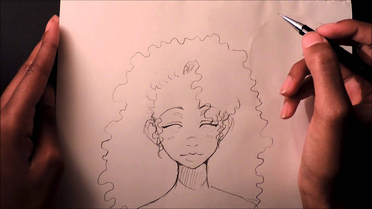 How to Draw  Curly  Afro Hair  YouTube