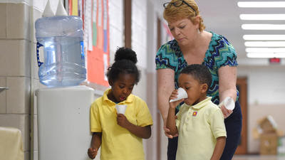Water from a fountain? Not in Baltimore city schools