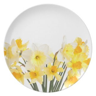 Beautiful Daffodils Plate