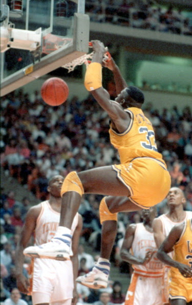 vintagesportspictures:<br /><br />Shaquille O'Neal  (1990)<br />