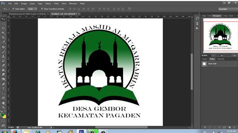 membuat logo keagamaan ikatan remaja masjid youtube