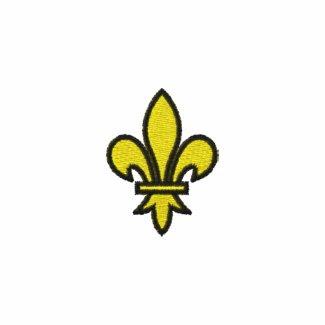 Fleur De Lis Long Sleeve Embroidered Shirt zazzle_embroideredshirt