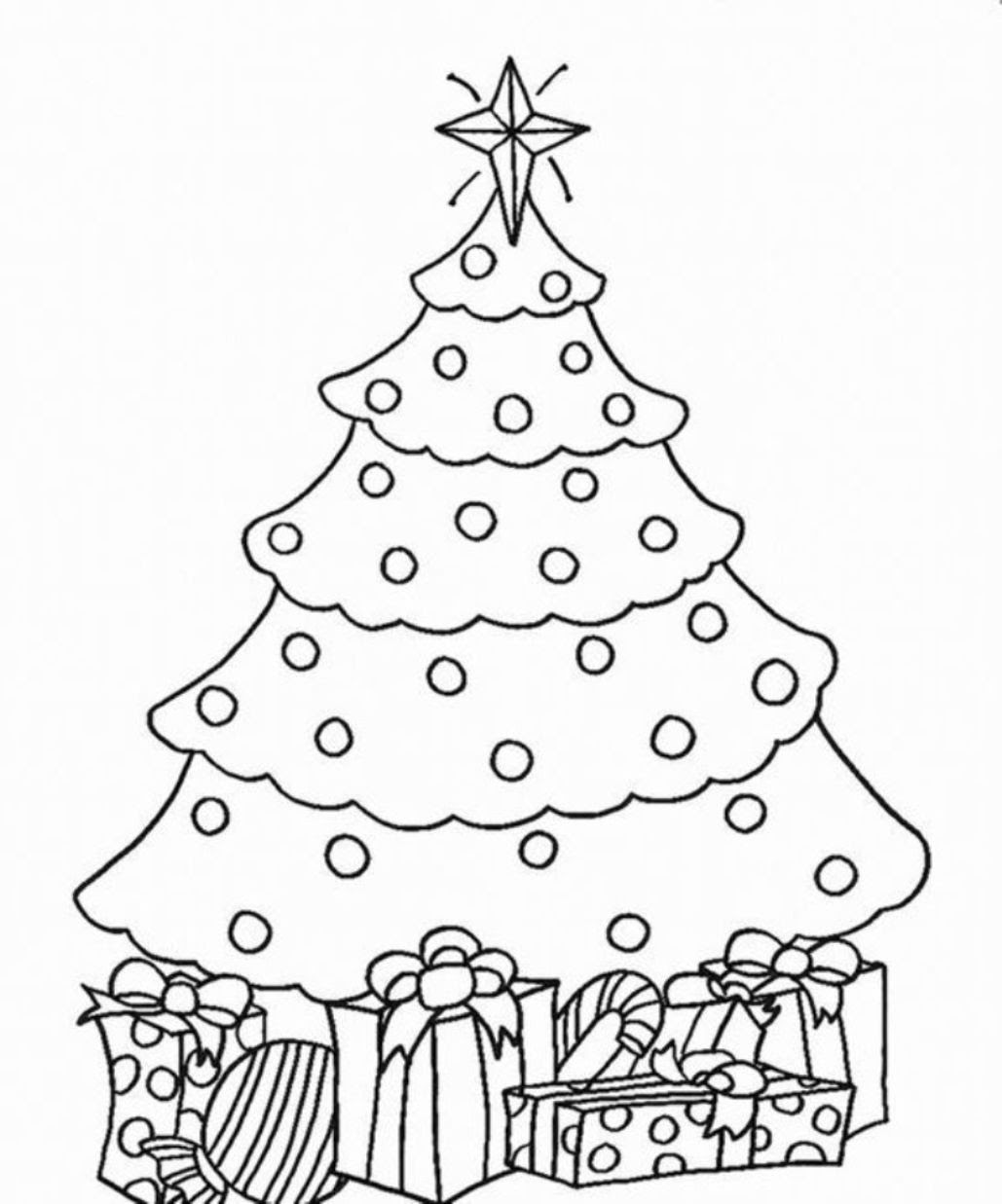 Kids Christmas Tree Coloring Page at GetColorings.com ...