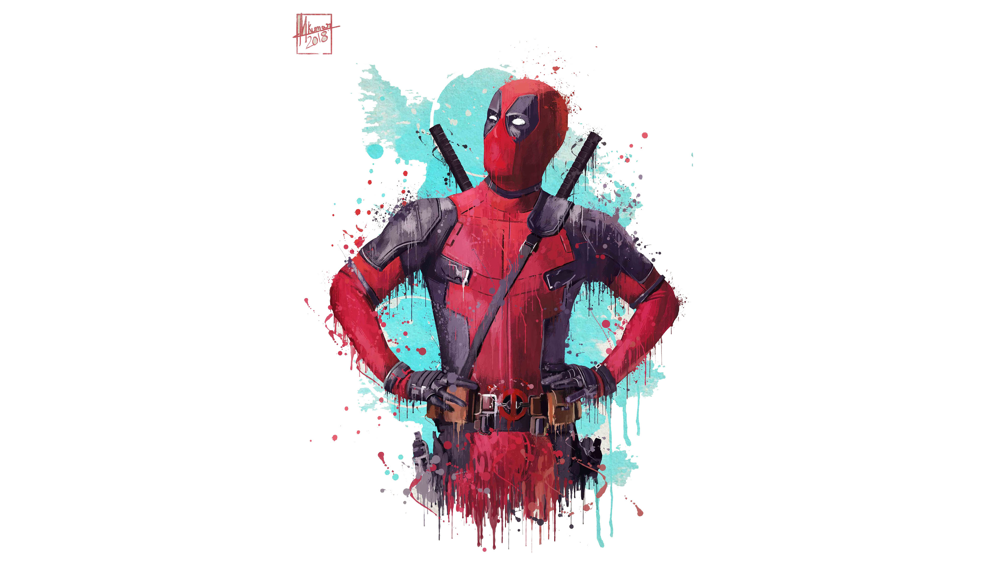 Download 3840x2160 Wallpaper Deadpool 2 2018 Movie Fan Artwork 4k