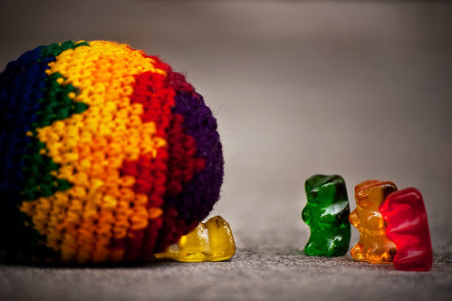 Gummy bears shouldn't try to play Hacky Sack.