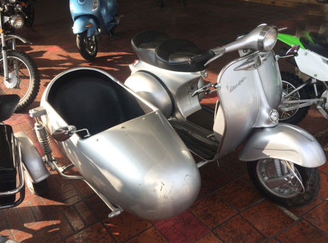 Vintage Vespa Scooter With Sidecar Sale Digitalspaceinfo