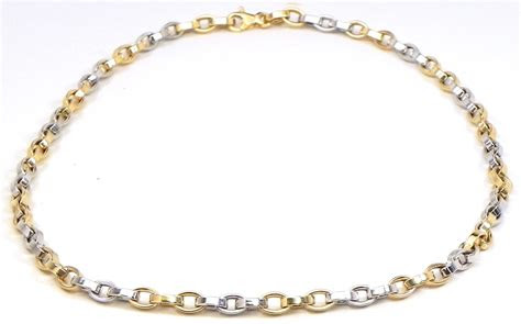 ladies   tone oval link necklace bright jewelers