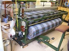 Loom weaving Manx tartan