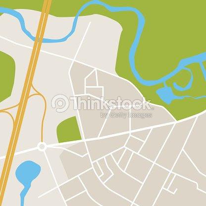 抽象的な市内地図シンプル地図 イラスト ベクトルアート Thinkstock