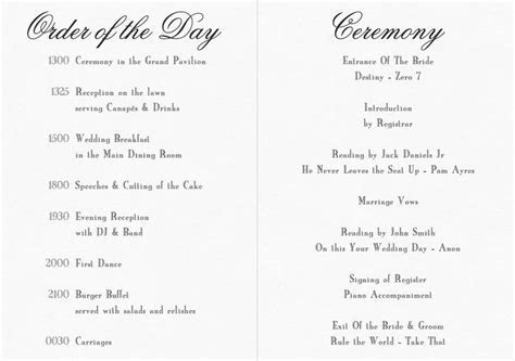 civil ceremony order of service   Google Search   wedding