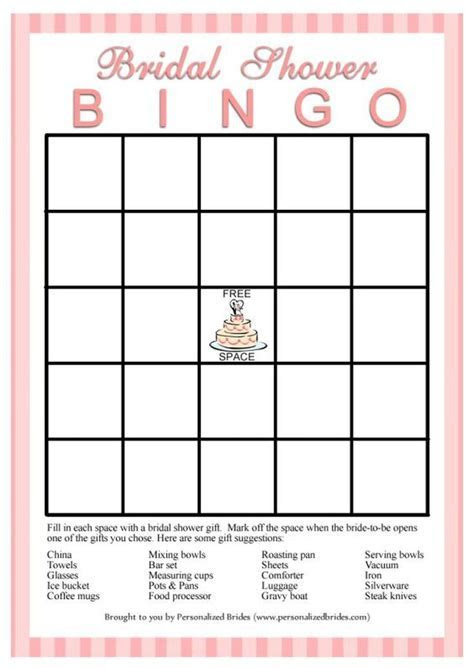 Print Off These Free Bingo Cards for An Easy Bridal Shower