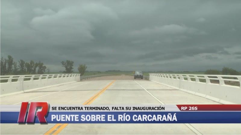 Resultado de imagen para puente de la Ruta Provincial Nº 26-S sobre el río Carcarañá.