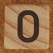 Calendar Wood Block number 0