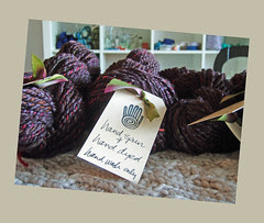 My handspun at Gauge