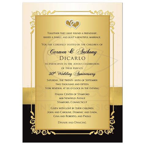 Golden wedding anniversary invitation : golden wedding