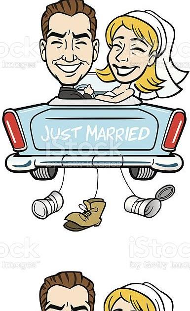 just married auto vorlage zum ausdrucken  just married