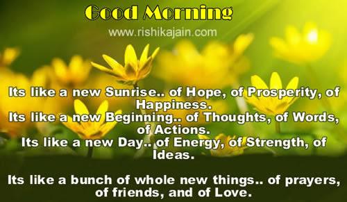 Good Morningits Like A New Sunrise Of Hope Of Prosperity Of
