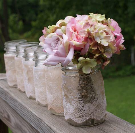 set of 6 vintage jars centerpieces vases candles romantic