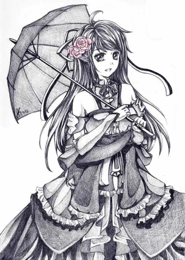 24 Beautiful Anime Drawings - Freshmorningquotes