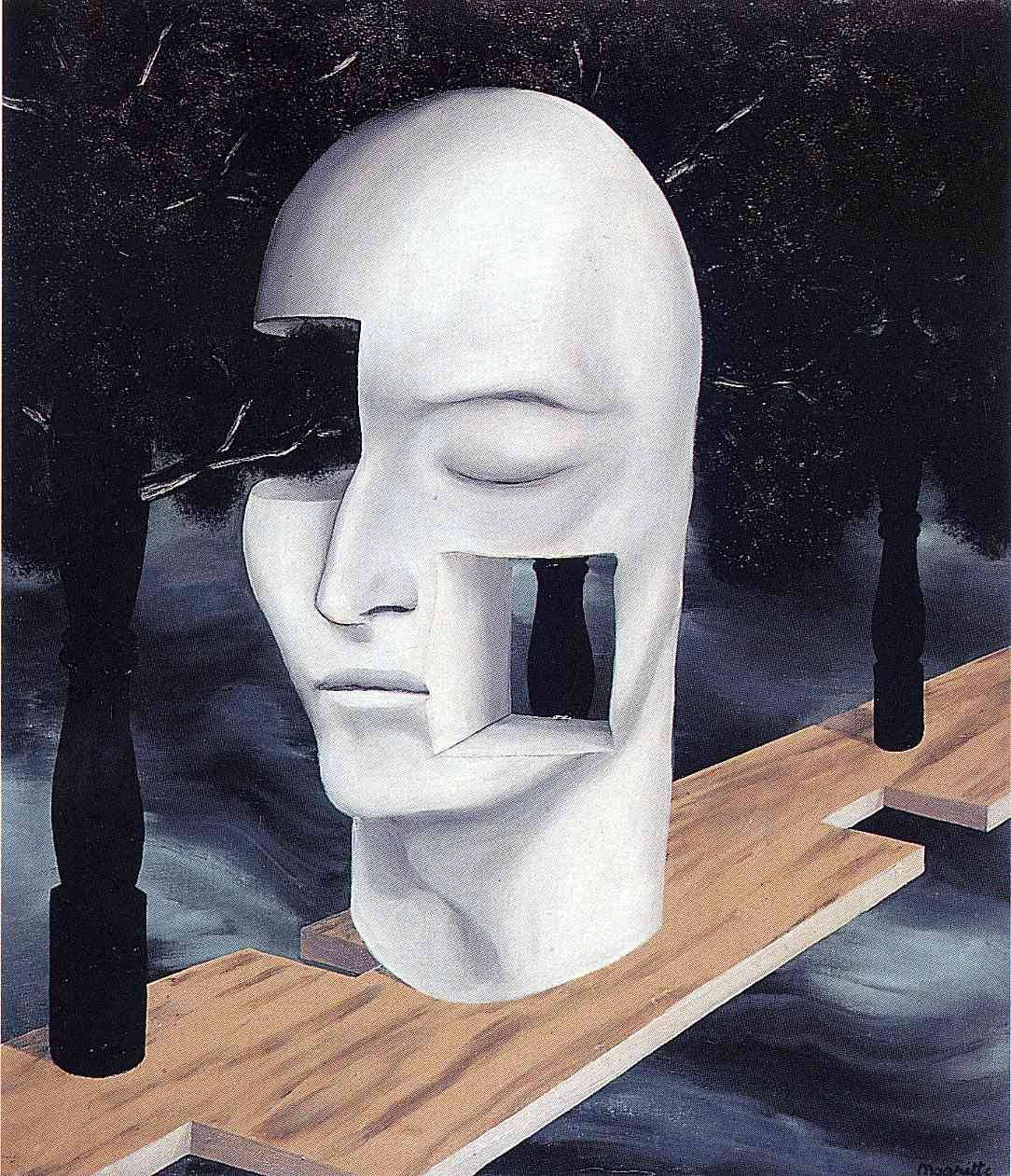 The face of genius, 1926Rene Magritte
