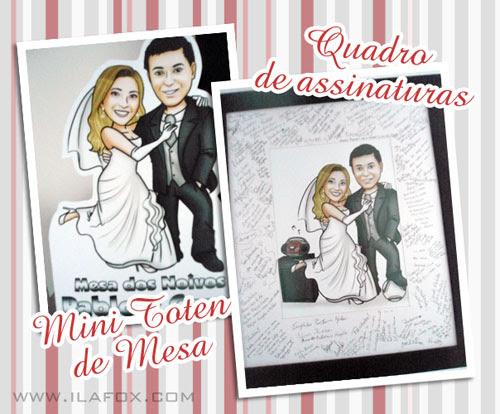 Caricatura casal noivos, caricatura noivinhos, educação física, quadro de assinaturas, caricatura sob encomenda by ila fox