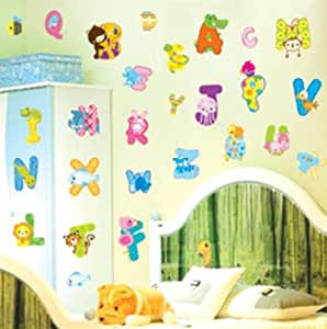 Removable Nursery Wall Stickers Decals  Animal Letters: Amazon.co.uk: Baby