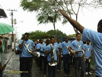 Fanfarra Municipal se apresentou durante evento (Foto: Divulgação)