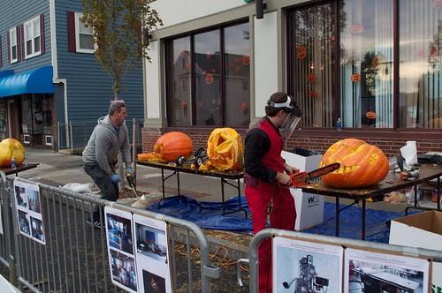 Artisan's Asylum power pumpkin carving, at Monster Mashed Up in Somerville