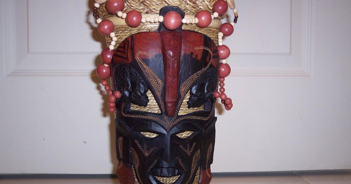 African Masks African Mask Floral Arrangement