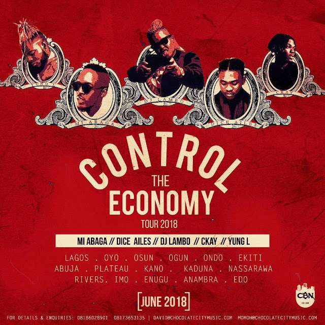 Control The Economy! M.I Abaga & the Chocolate City Gang are going on a Nationwide Tour