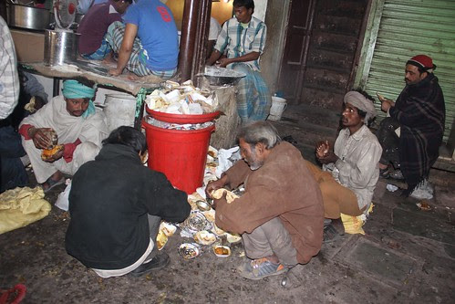 Eating Left Overs Delhi Beggars by firoze shakir photographerno1