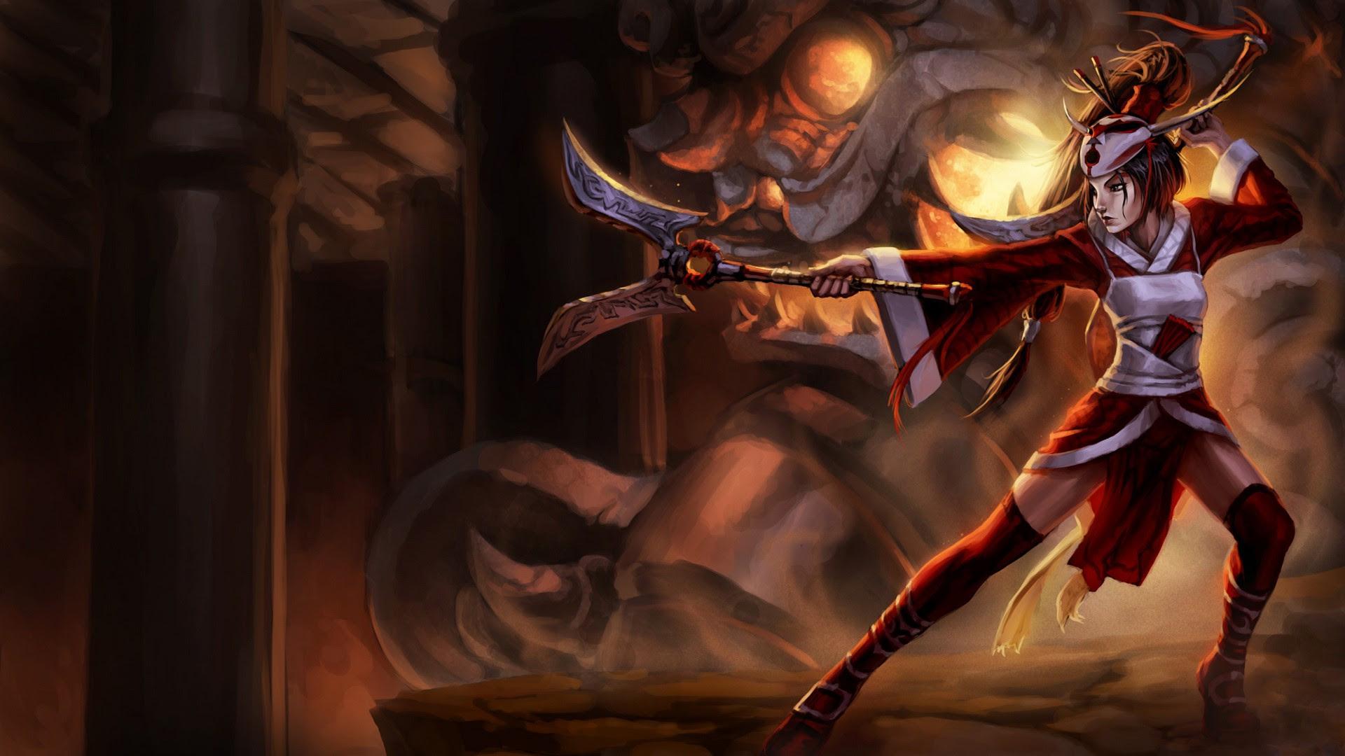 Blood Moon Akali Skin Original Na League Of Legends Wallpapers