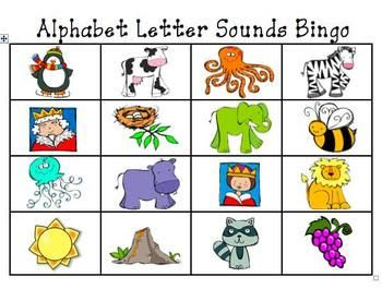 Alphabet Letter and Letter Sounds Bingo Cards | Bingo, Alphabet ...