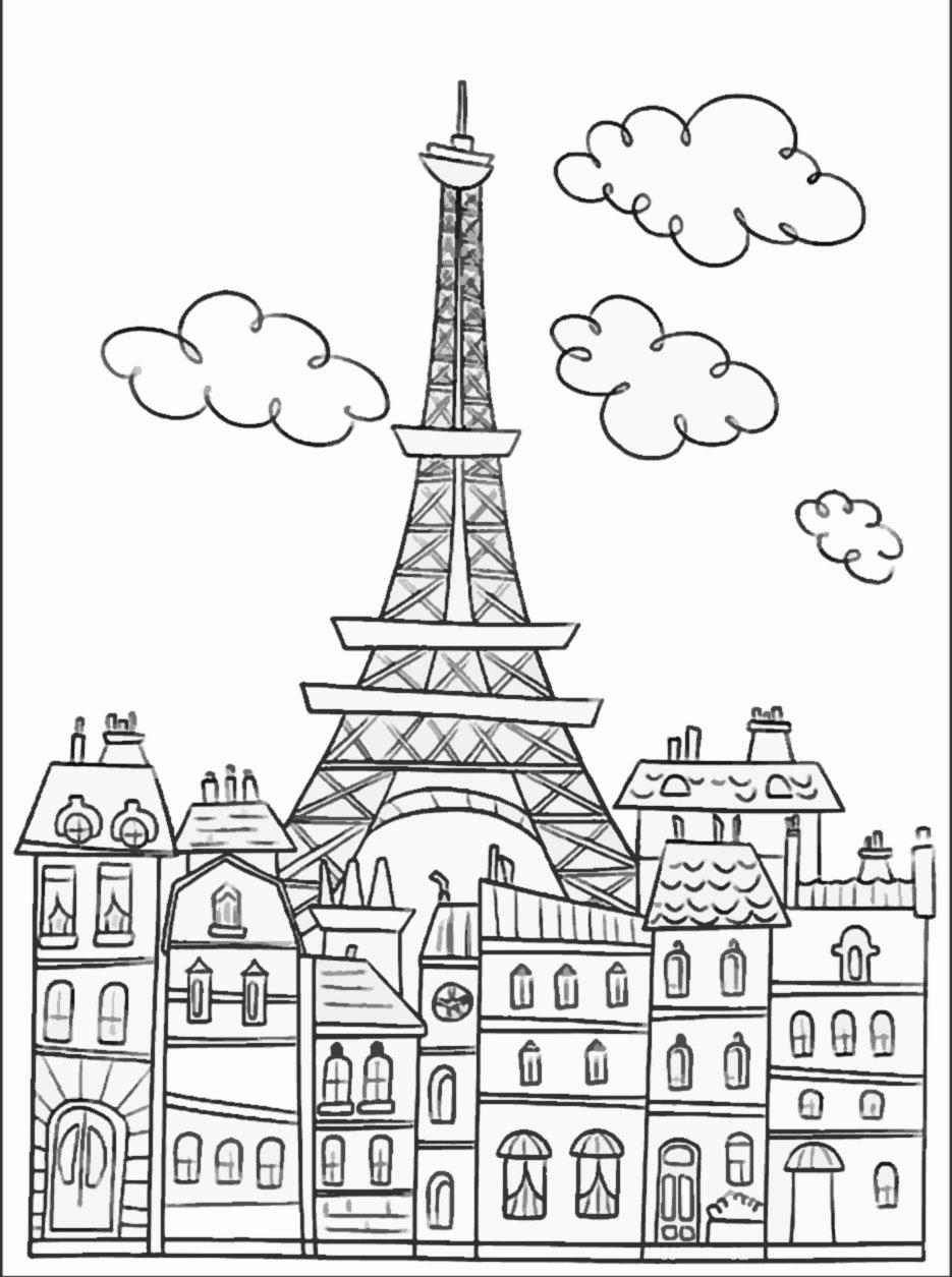 Belle Coloriage Monuments De Paris A Imprimer Imprimer Et Obtenir