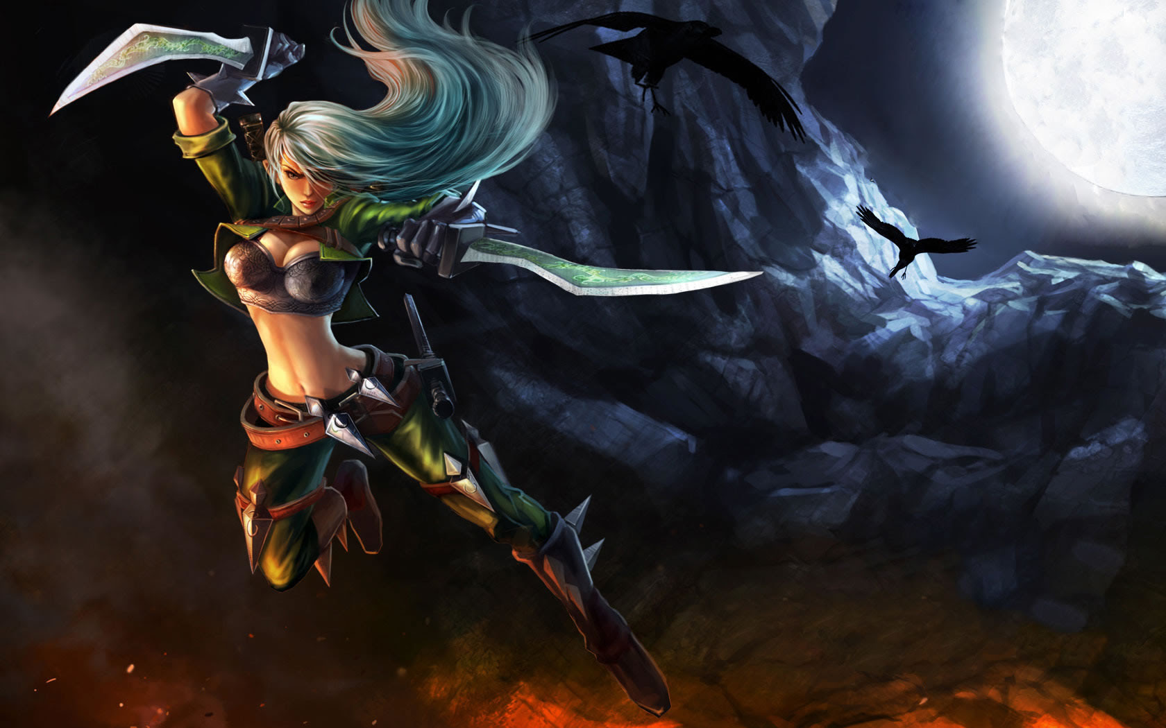 Mercenary Katarina Skin Chinese 2 League Of Legends Wallpapers