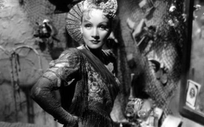 A atriz alemã Marlene Dietrich. Foto: Reprodução
