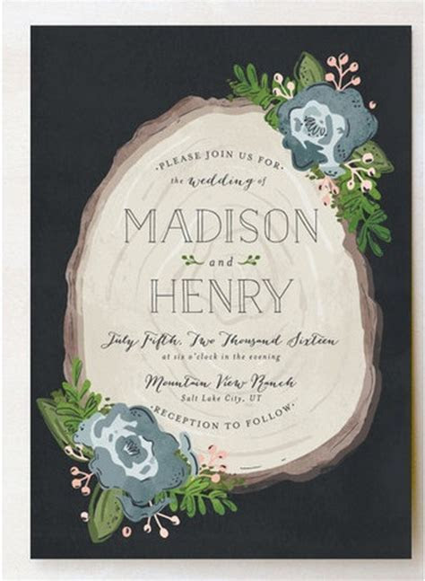 22 Amazing Greenery Botanical Wedding Invitations