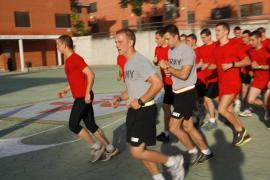 Militares estadounidenses y españoles en la BRIPAC