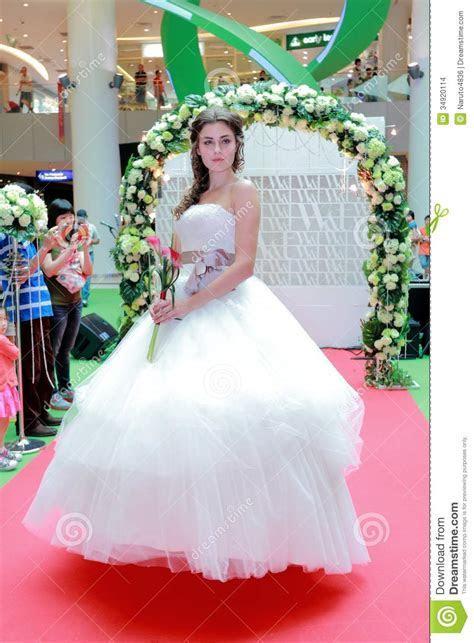 Wedding Dresses Fashion Show Editorial Stock Image   Image