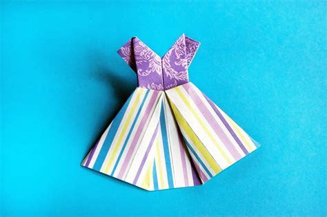 How to make paper dress origami   YouTube