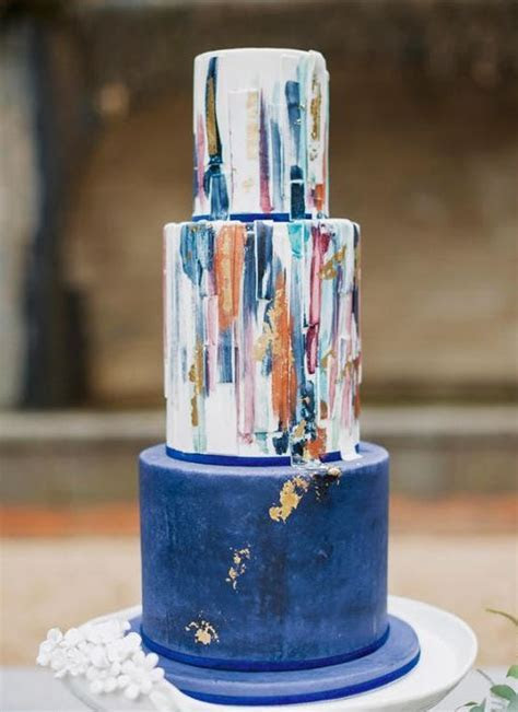26 Watercolor Wedding Cakes To Blow Your Mind Away