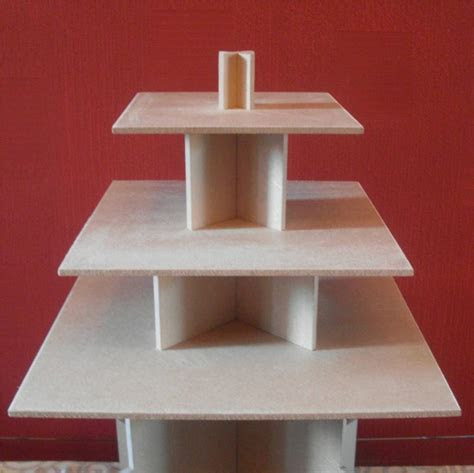 3 TIER SQUARE CUPCAKE PARTY WEDDING CAKE / BUFFET STAND   eBay