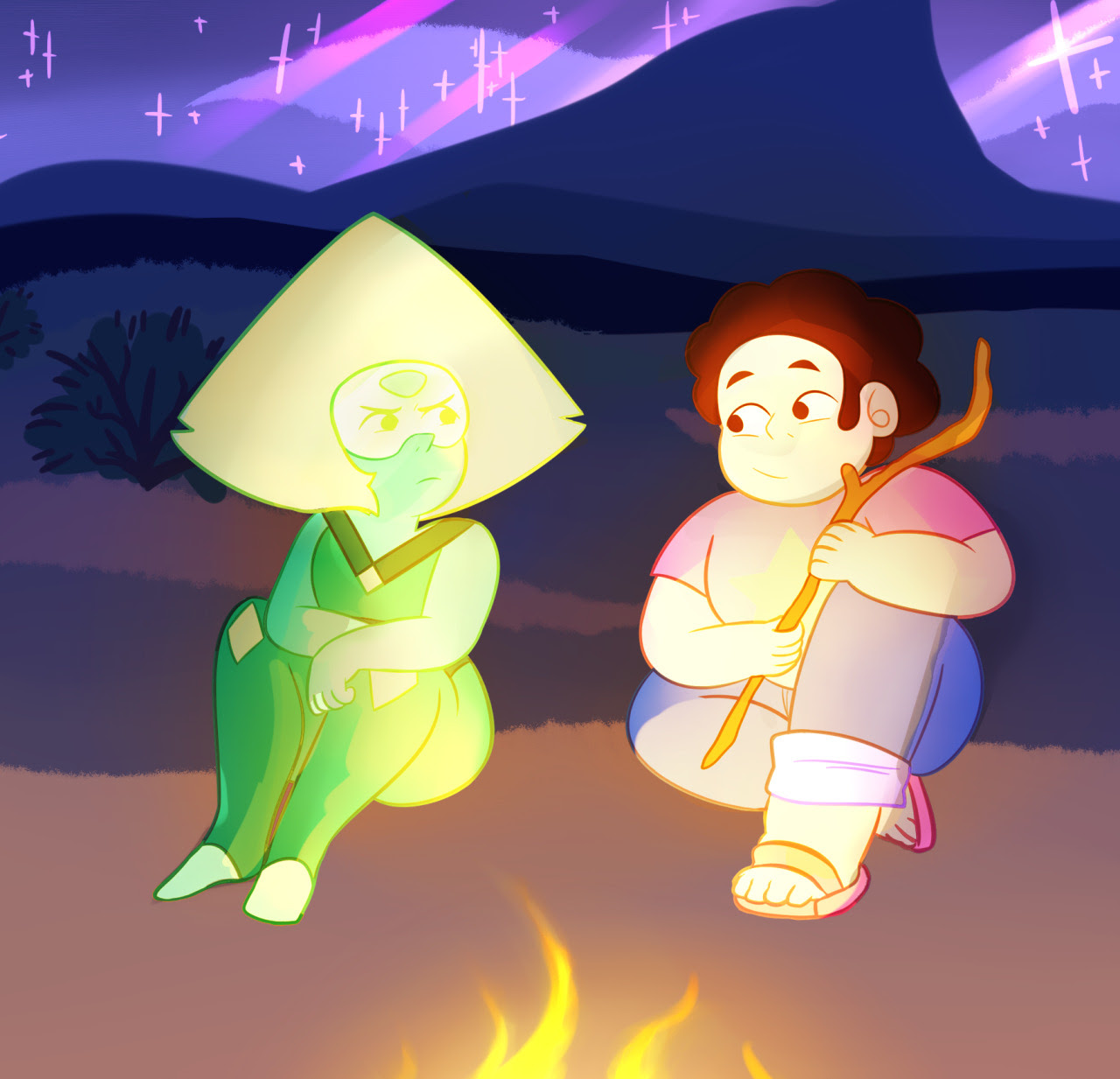 glad to see peridot being wacky