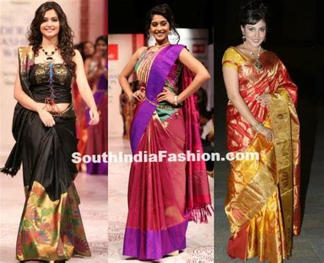 Celebs in Bridal Sarees @ Hyderabad Fashion Week ? South