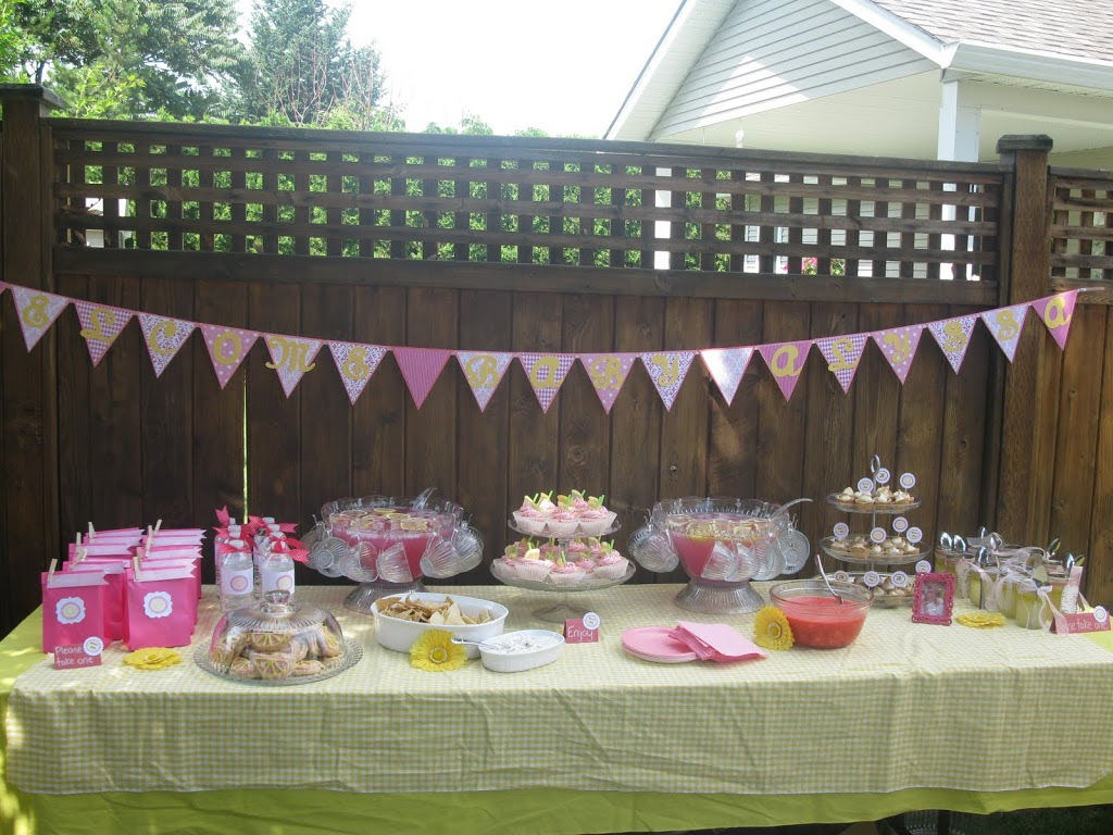 Pink Lemonade Baby Shower Dragonfly Designs