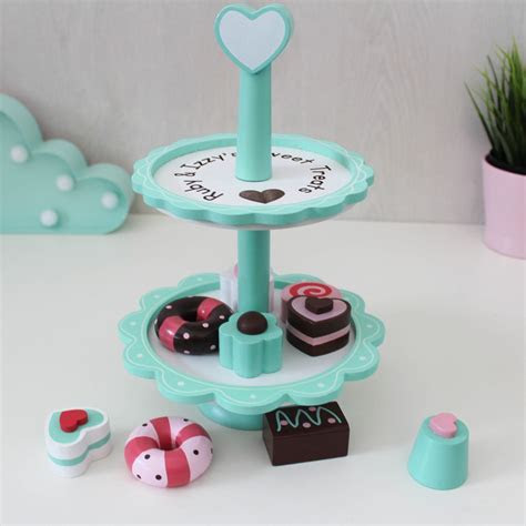 Personalised Wooden Cake Stand Toy   Love Unique Personal