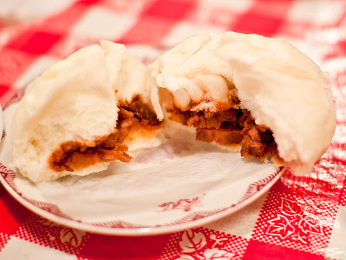 Giant roast pork buns
