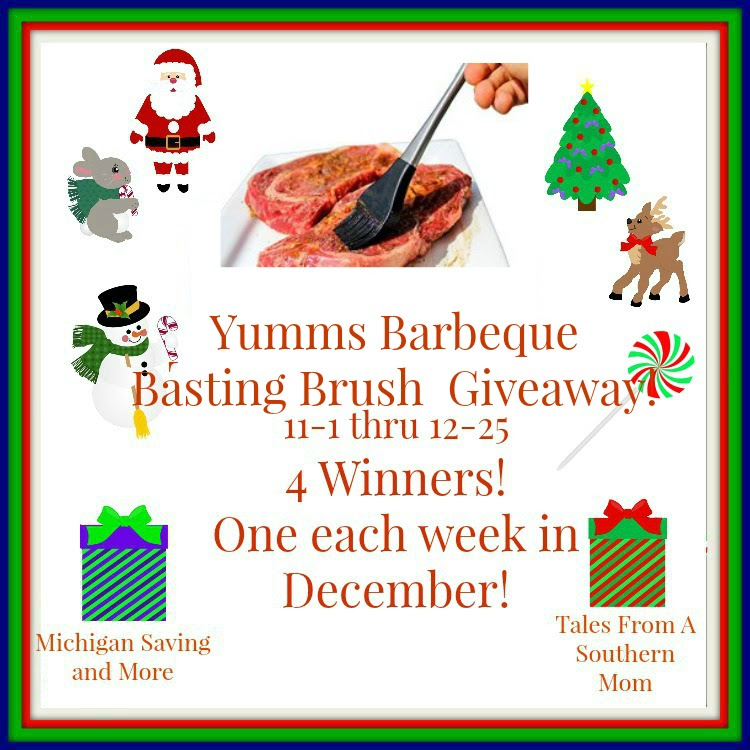 Enter the Yumms! Barbeque Basting Brush Giveaway. Ends 12/25