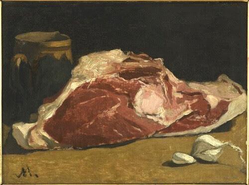 le quartier de viande Monet