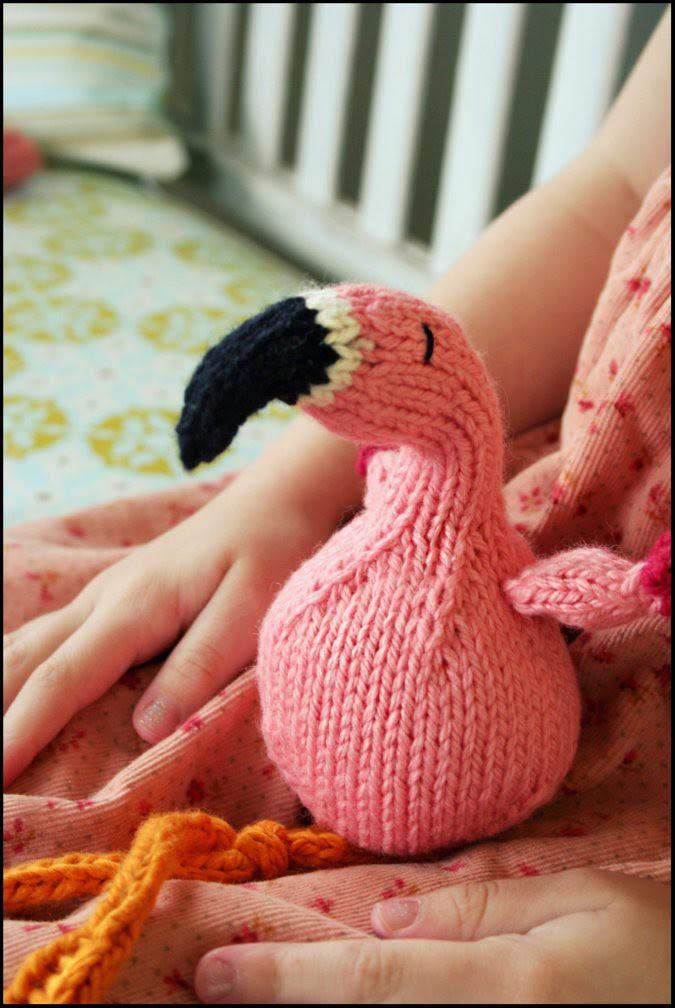 Flamingo on Lap.